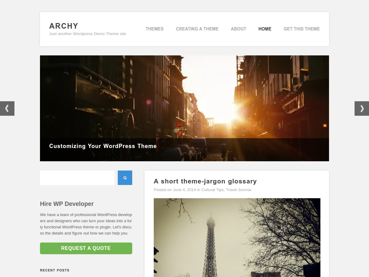 Archy screenshot