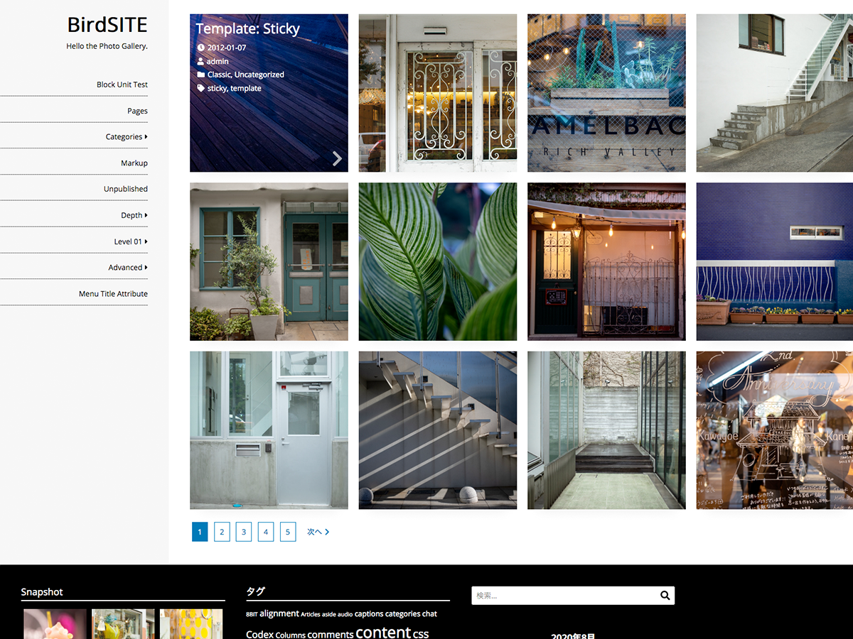 BirdSITE wp theme