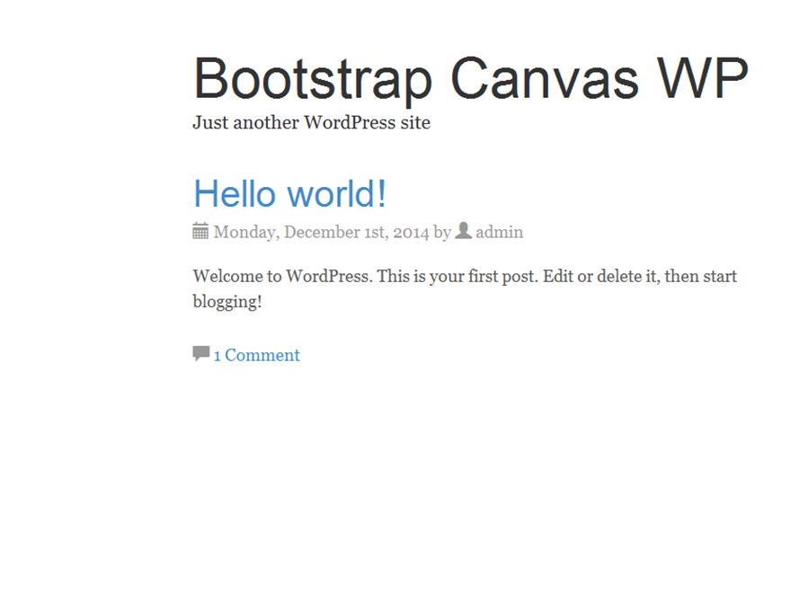 Bootstrap Canvas WP screenshot
