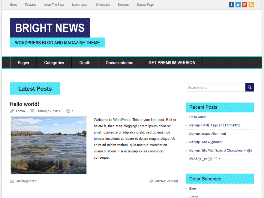 BrightNews screenshot
