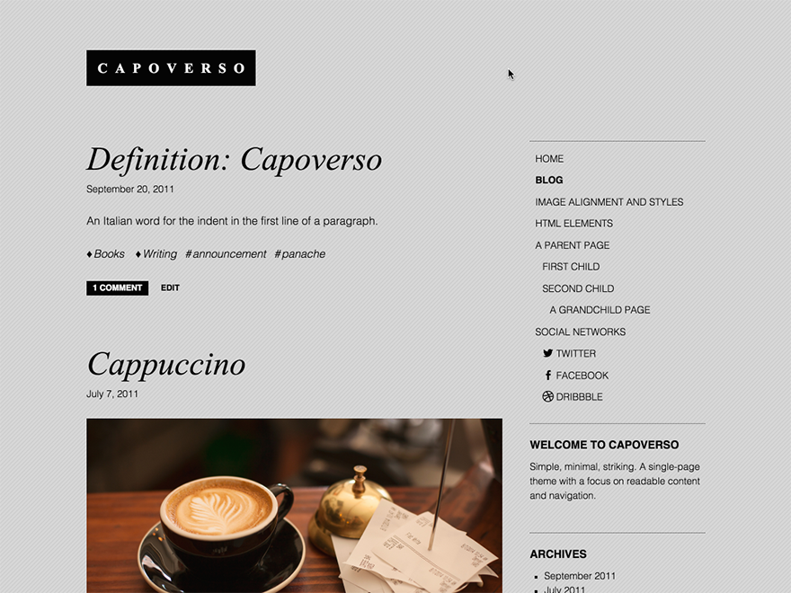Capoverso screenshot