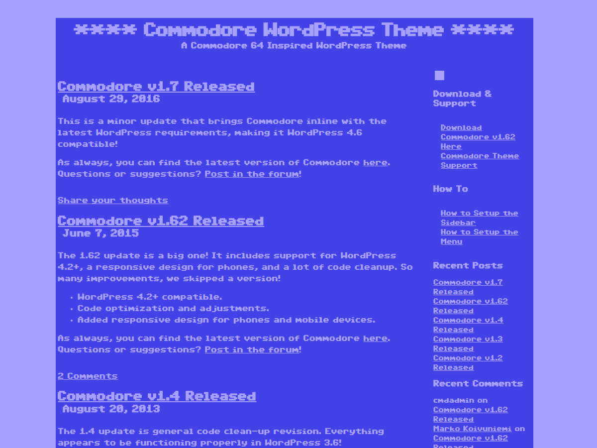 Commodore screenshot