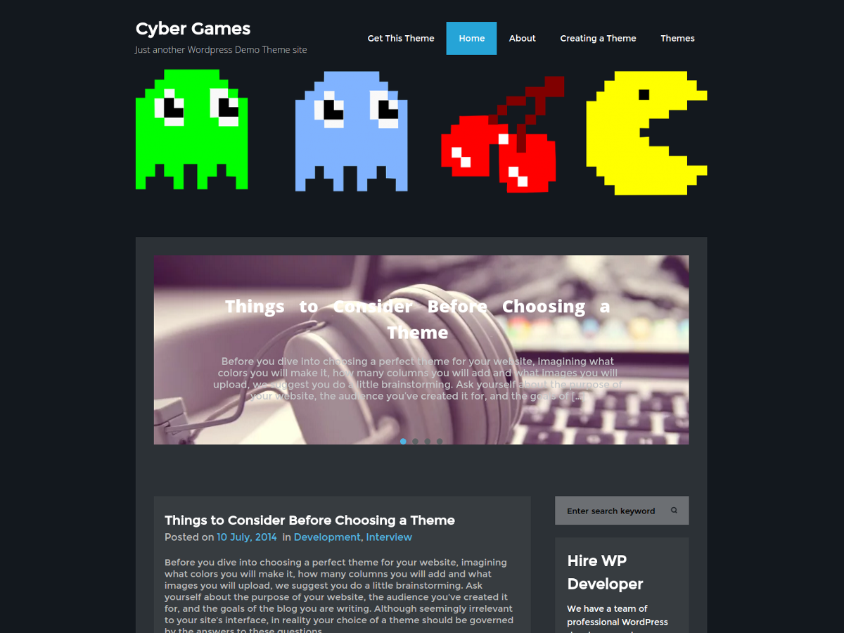 CyberGames screenshot