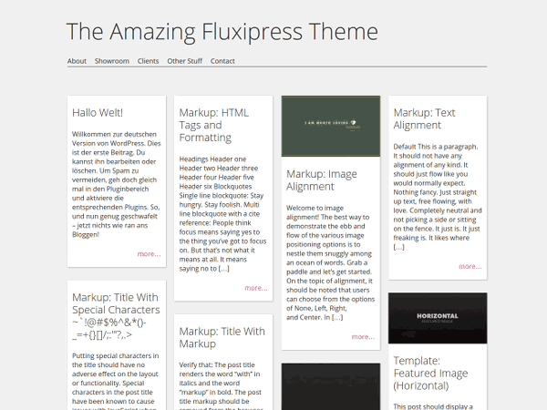 A puristic, responsive theme.