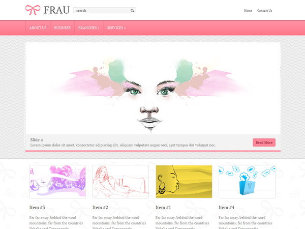 Frau has a great variety of functionalities such as easy to follow code, social networking features, YouTube and Flickr integration. It comes with easy to modify widgetized sidebar and an extremely versatile layout scheme for easy modification. Our easy-to-use Theme Options Page allows you to set-up your new theme in just a few minutes, no more file edits and/or hundreds of drop-downs and checkboxes.