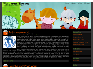 WordPress Girl Theme  by WordPress Themes.