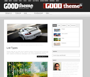 Profi WordPress theme with five colour schemes, two/three columns, six widget areas and tons of functions. Automatic post thumbnail, Featured posts, Control Panel in sidebar, Dropdown page and category menu. Powerfull theme options menu (including: Logo change, Exclude categories feature, Category description, Customizable sidebar layout, great Ads manager, About Me image and text feature, Featured video section, Social Manager).