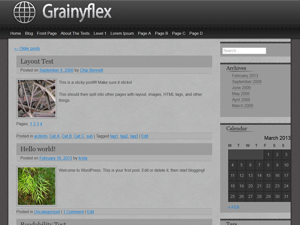 grainyflex screenshot