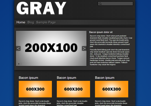 A simplistic gray and orange theme built for business. fully responsive layout made to look great on any device.