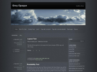 A clear and elegant grey theme – designed for WordPress 3.0 or higher – with some very nice opaque-effects. Contains one sidebar on the right and postinformation on the left side of content. This theme has six widgetareas, two in the right sidebar and four in the footer. It supports all of the WordPress 3.0 (and higher) functions. The themes settings-page allows some customizing. Translations: English, German, Russian (Анастасия / Anastasia), Belarussian, Romanian (Alexander Ovsov), Italian (Andrea), Chinese (Ren Rainer), Slovak, Czech (Josef Šabata)