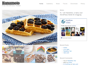 Hanamoto is elegant theme with image slider in front page. You could upload image slider till 10 images with cool thumbnail position.