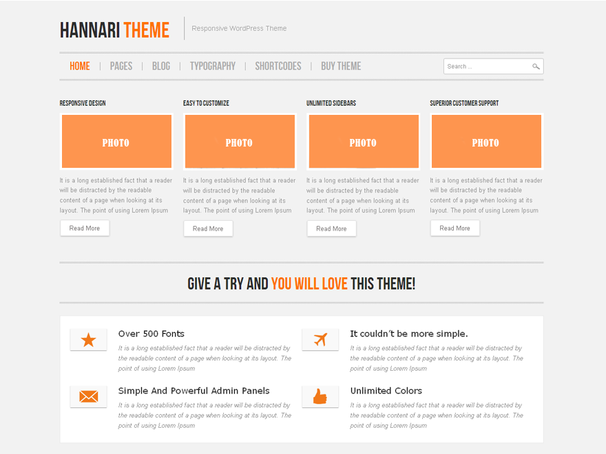 Hannari is a fully responsive, flexible, simple and beautiful. This theme have a really cool and a lot of theme options, possibility of creating multiple sidebar