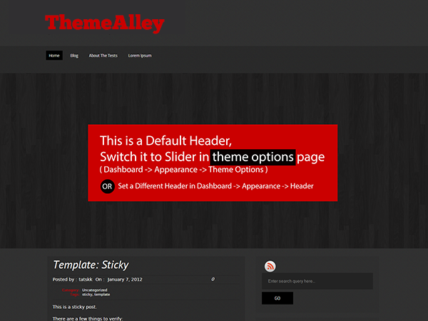 Responsive WordPress theme with multiple homepage layouts, 4 ready to use skins(Black, Blue, Red, Green), two column layout, three column layout, featured posts, social icons, twitter updates, threaded comments and widget support.