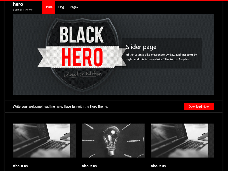 A very neat and clean black and red business theme. The theme supports widgets. And features theme-options, threaded-comments and multi-level dropdown menu. A simple and neat typography.
