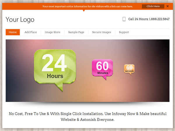 InfoWay is a Clean, Simple & Elegant Responsive WordPress Theme built by InkThemes.com. You can use Infoway Theme to build beautiful website for your business site and your blog. The core of Infoway Theme is its simplicity to Install and use, you can customize and use your own logo, texts and images easily using the in-built Themes Options Panel. InfoWay Theme support widgets in sidebar and footer, which gives you infinite ways to customize your site. The Theme comes with elegant color scheme which looks good for different types of website. You would definitely love to create your website using InfoWay.