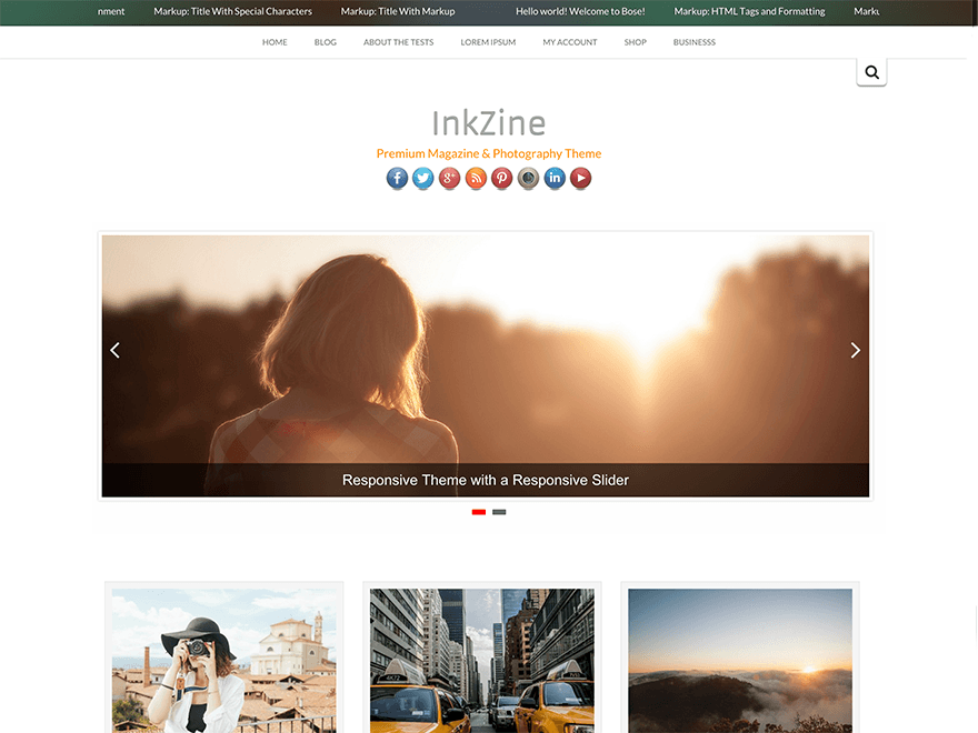 Inkzine Is a High Quality Magazine theme for your WordPress Blog. It comes with Parallax Header, Responsive Layout, Custom Widget, Theme Options, Full Width Pages, etc.. And the Best part, its built on top of Twitter Bootstrap 3.0, one of the best frameworks. Inkzine is fully translation ready, .pot file has been provided for you. Already Translated into French and Spanish.