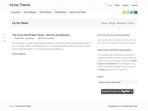 inLine is a refreshingly clean and simple minimal WordPress theme.