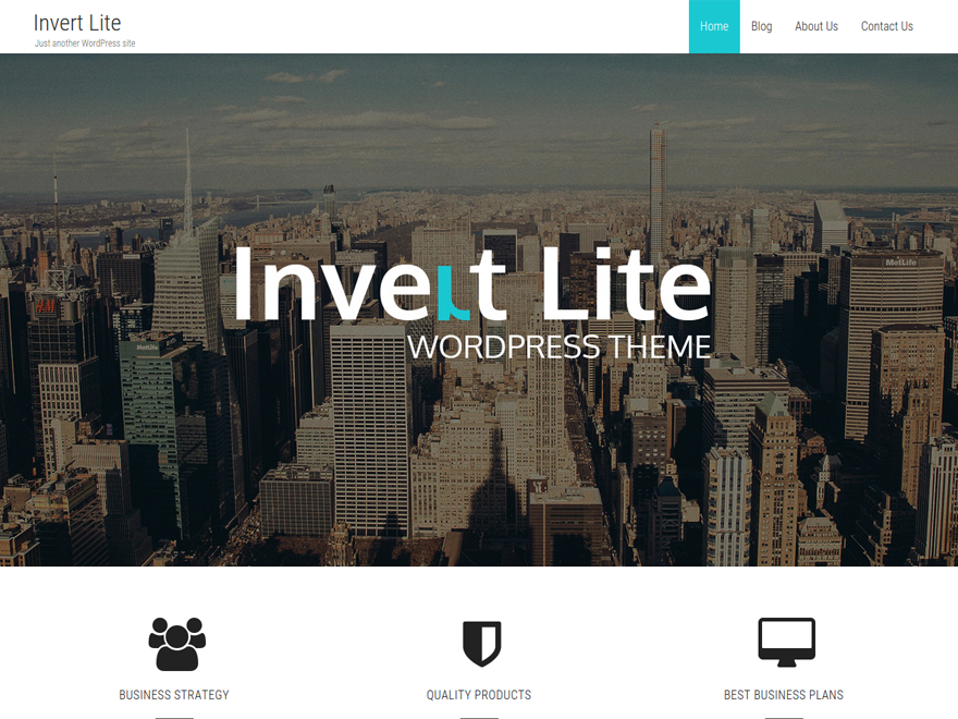 "A Clean, Multipurpose, Responsive Business WordPress Theme with easy customization options one can easily setup a perfect business theme in a few minutes. The striking features of ""INVERT"" are Easy Custom Admin Options, 3 Custom Page Templates, Parallax Section, Custom Logo, Custom favicon, Social links Setup, SEO Optimized, Call To Action, Featured Text. A package you won't regret getting for FREE."