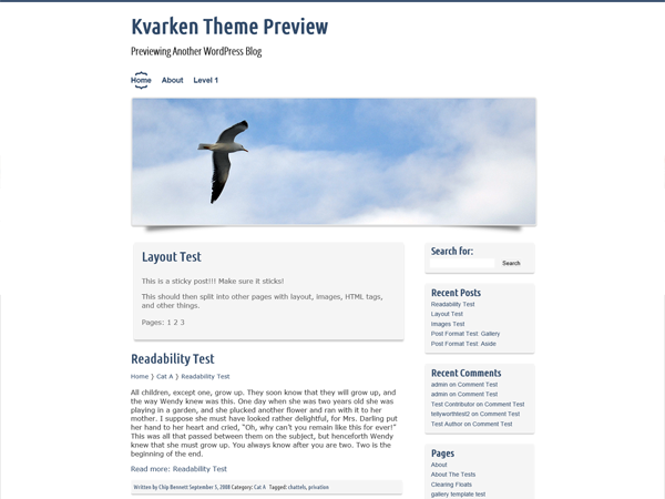 A responsive customizable theme that works out of the box. -Leave the options as is or go wild and change them all! Two widget areas, header image and menu placement, logo upload, sticky posts, threaded comments and unlimited colors. Change details such as breadcrumb navigation, rounded corners, shadows and icons. Includes several header images related to the Kvarken Archipelago and Swedish translation.