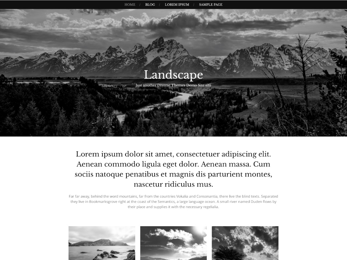 Landscape is a simple, responsive WordPress theme. Perfect for photography sites.