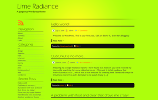 Lime Radiance screenshot