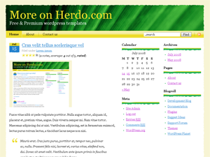WordPress theme designed by Herdo Web Design. Valid CSS & XHTML. DIV only used. Grid based. SEO optimized.