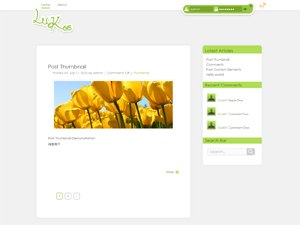 Simply and stylish theme which is mainly in green colour.