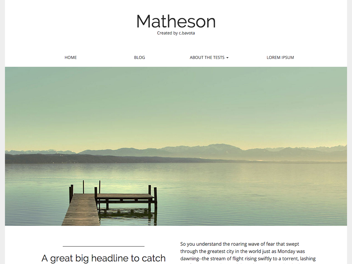 Matheson screenshot