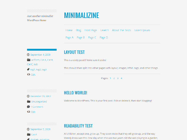 Minimalizine screenshot