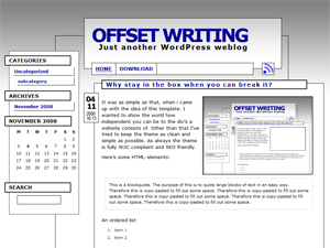 Offset Writing screenshot