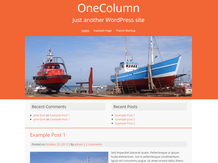 OneColumn screenshot