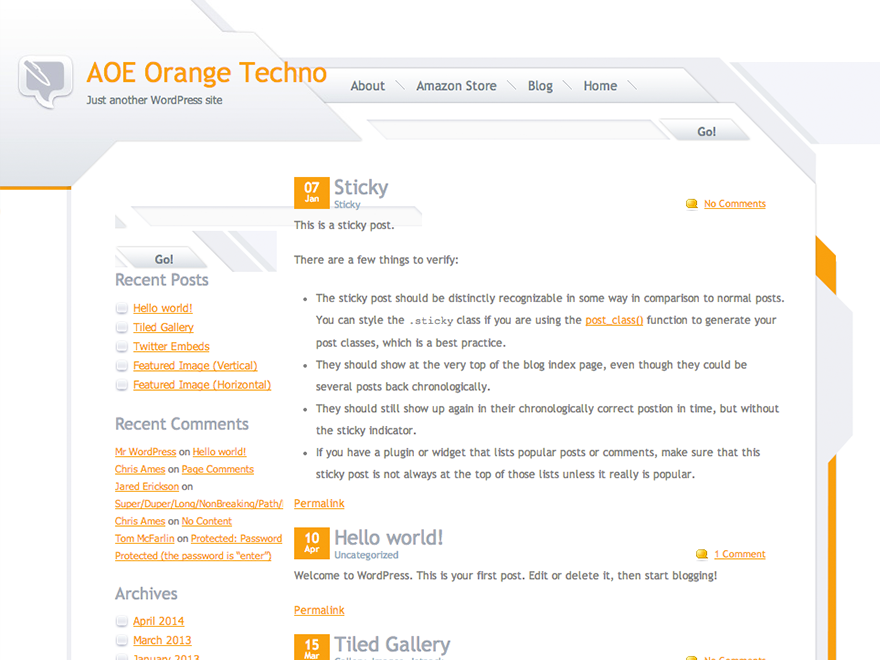 Orange Techno