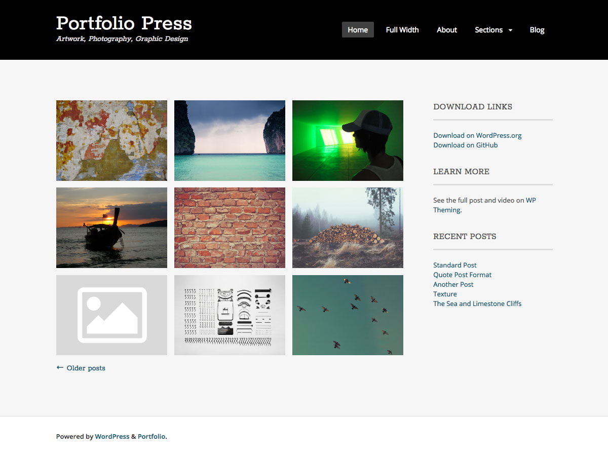 Portfolio Press screenshot