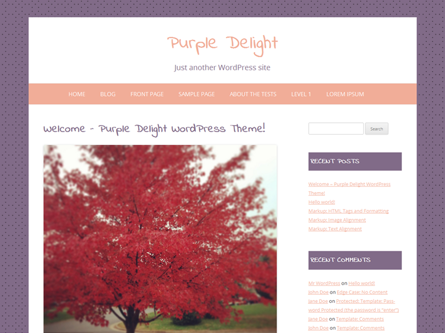 Purple Delight screenshot