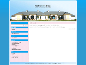 Real Estate Blog screenshot