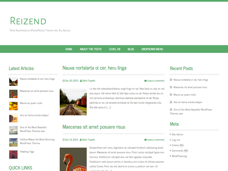 Reizend screenshot