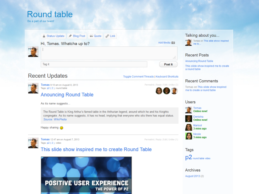 RoundTable screenshot