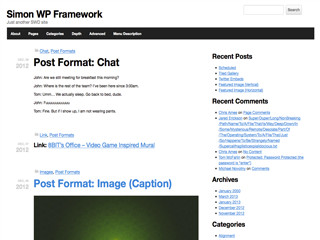 Simon WP Framework screenshot