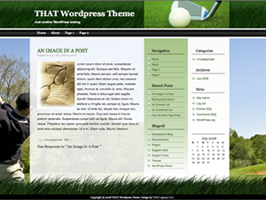 THATgolf Theme screenshot