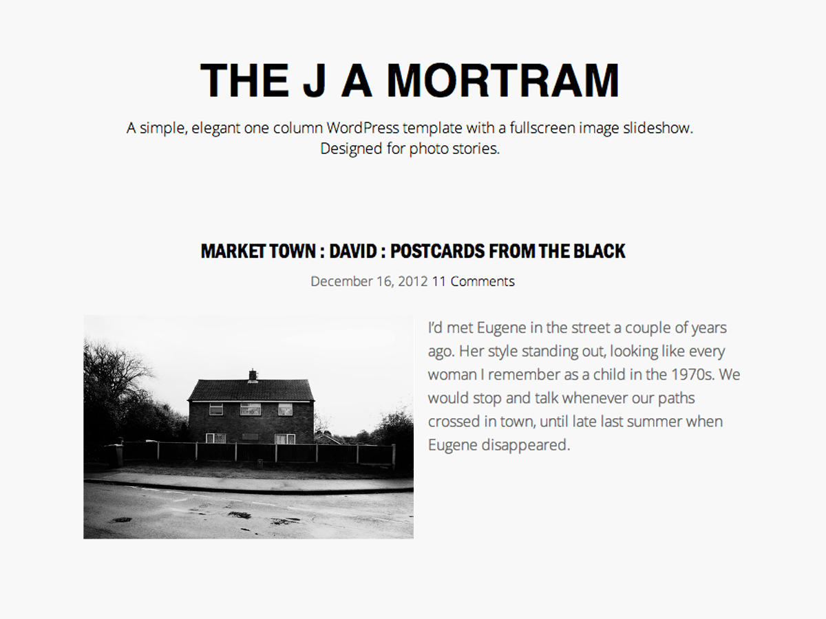 The J A Mortram