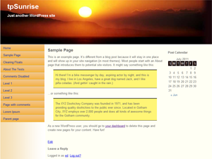 tpSunrise screenshot