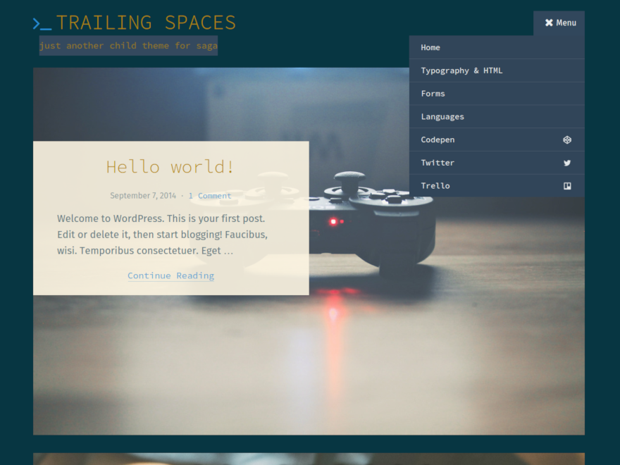 Trailing Spaces screenshot