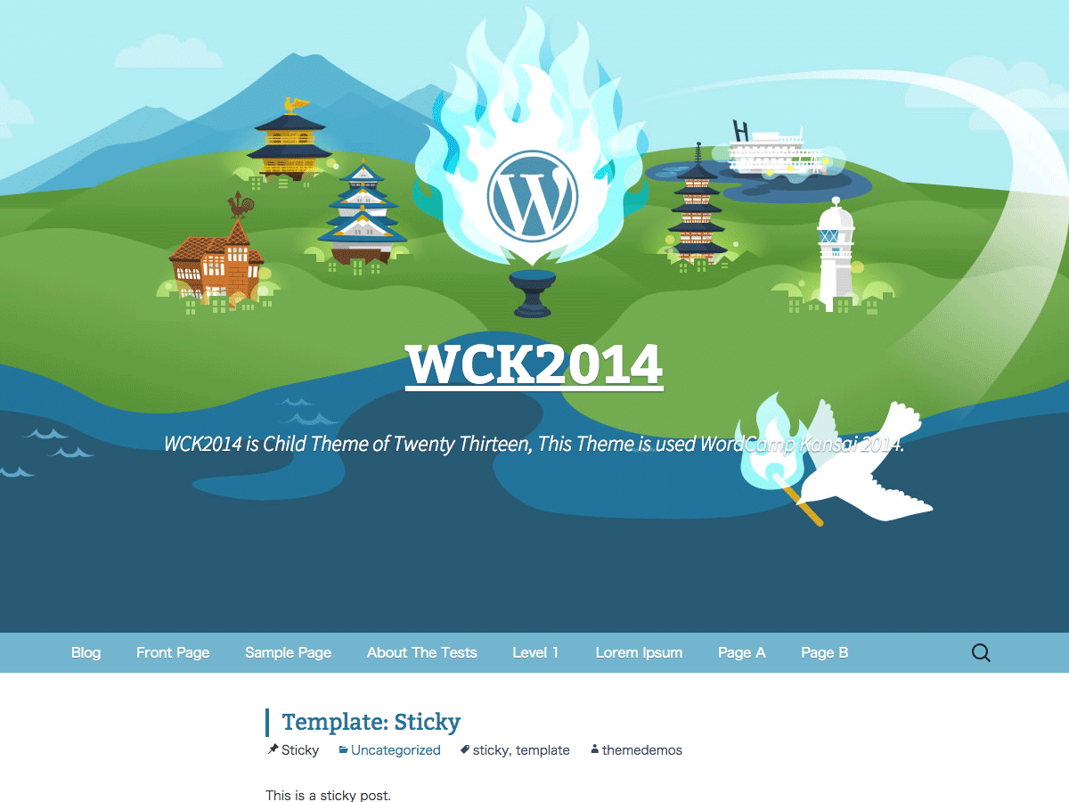 screenshot of theme WCK2014