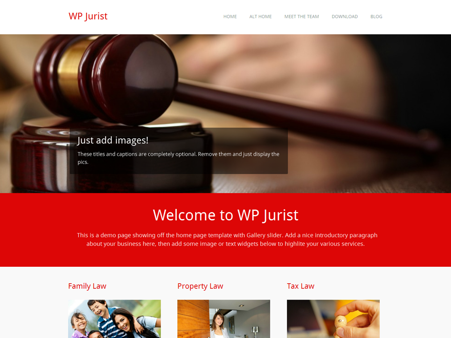 WP Jurist screenshot