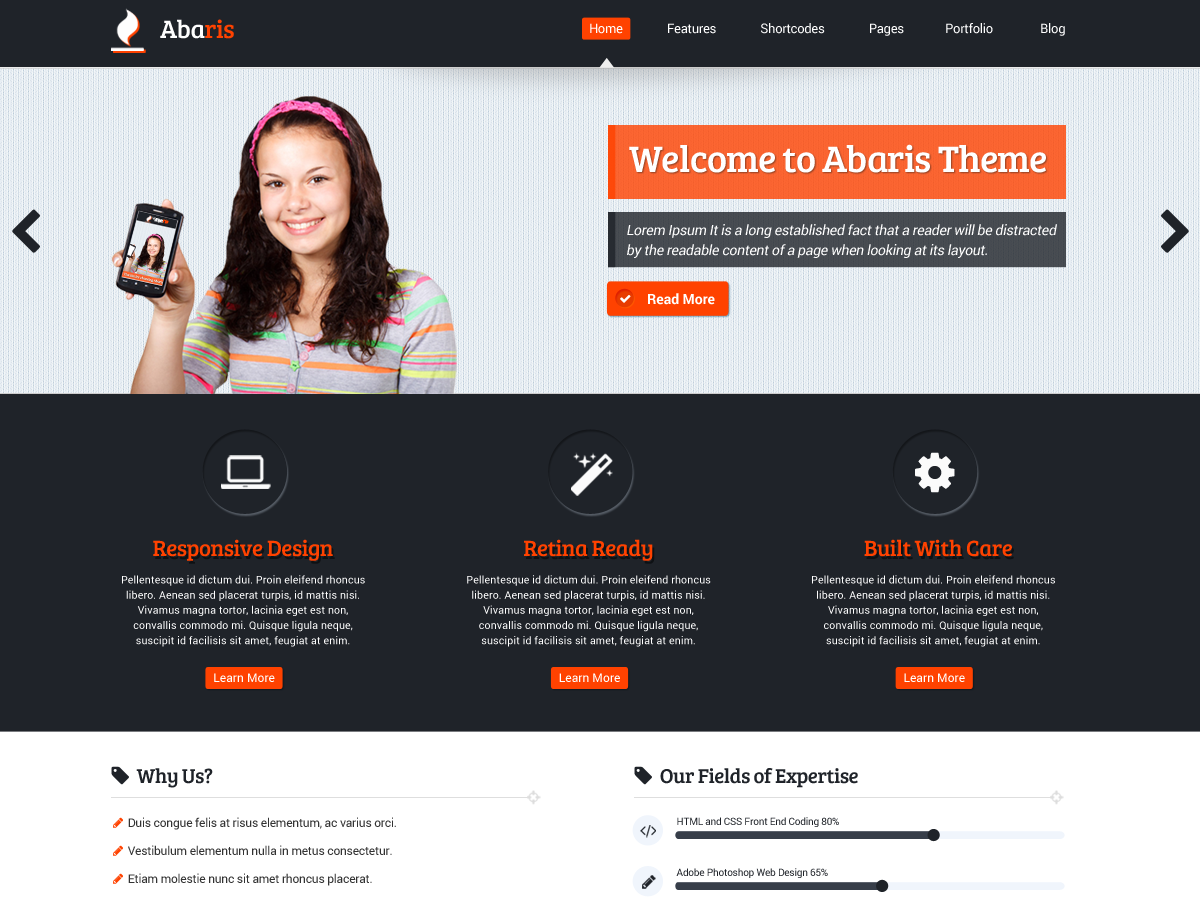 Abaris WordPress theme