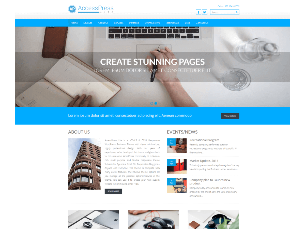 Top 30+ Best Free WordPress Business Themes in [sigma_current_year] 33