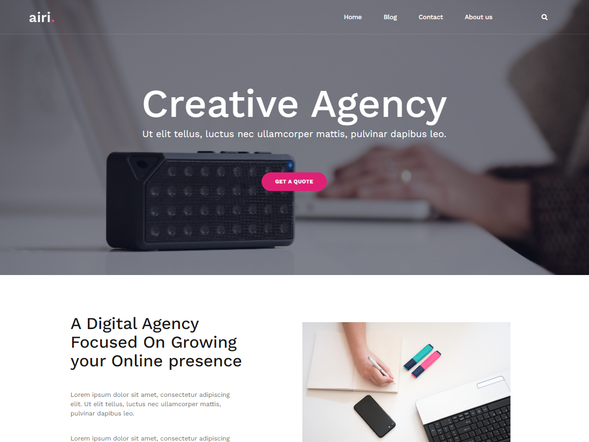 Top 30+ Best Free WordPress Business Themes in [sigma_current_year] 14
