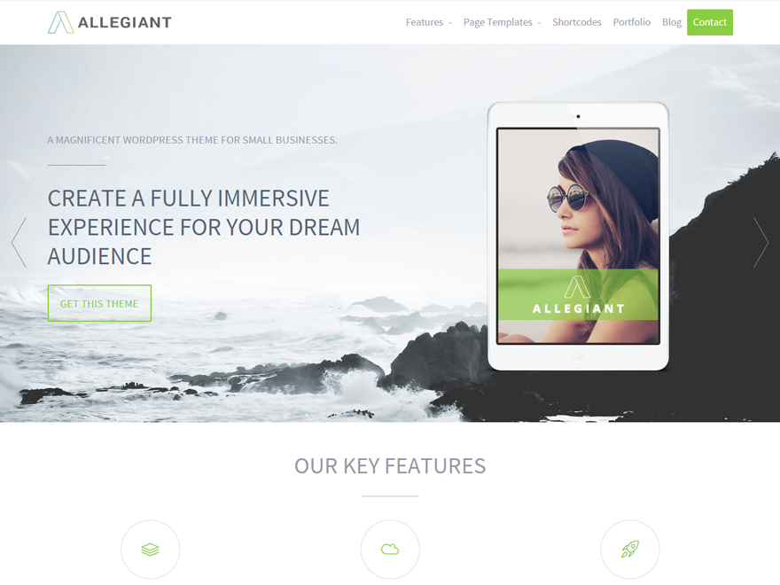 10 Best Free Fullscreen WordPress Themes 2019 6