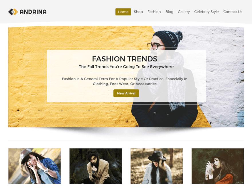 Template WordPress Andrina