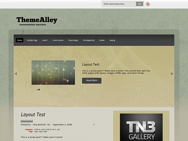 Template WordPress Theme Alley